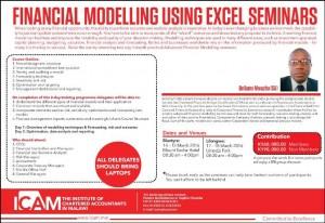 Financial Modelling Using Excel Seminars
